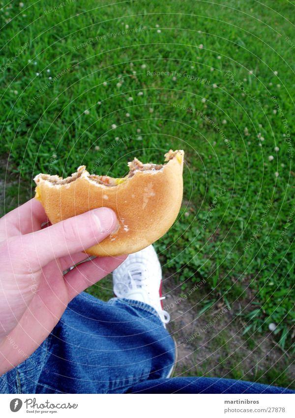 Green Cheese Cheeseburger Fastfood Schuhe Park Hose Ernährung