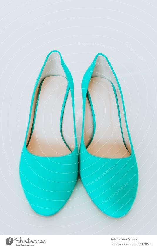 Paar blaue Schuhe Frau paarweise Höhe neu Entwurf Mode