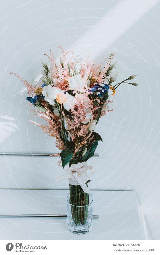 Wunderschöne frische Blumen in Vase Blumenstrauß wunderbar geblümt aromatisch