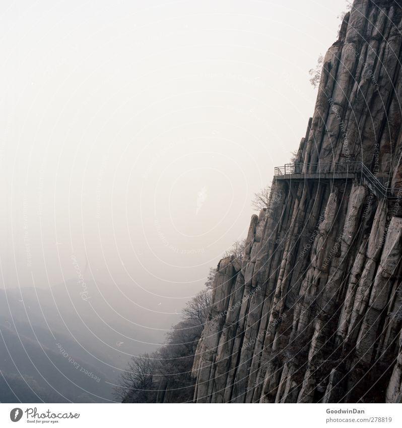 Into the wilderness. Natur Umwelt dunkel Berge u. Gebirge Herbst Stimmung Felsen außergewöhnlich authentisch trist Unendlichkeit eckig Schlucht gigantisch