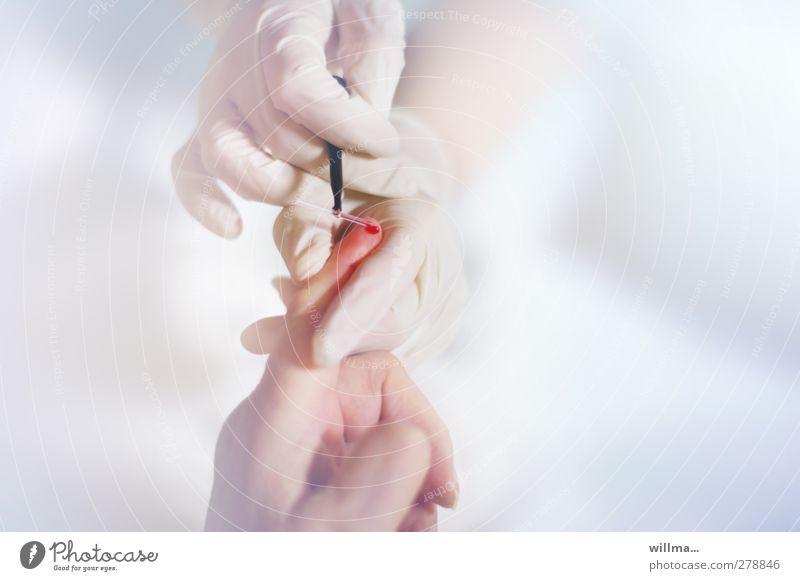 blutzucker Hand Gesundheit Gesundheitswesen hell Finger Krankheit Krankenhaus Krankenpflege Blut Handschuhe Behandlung steril Bluttest klinisch Cholesterin