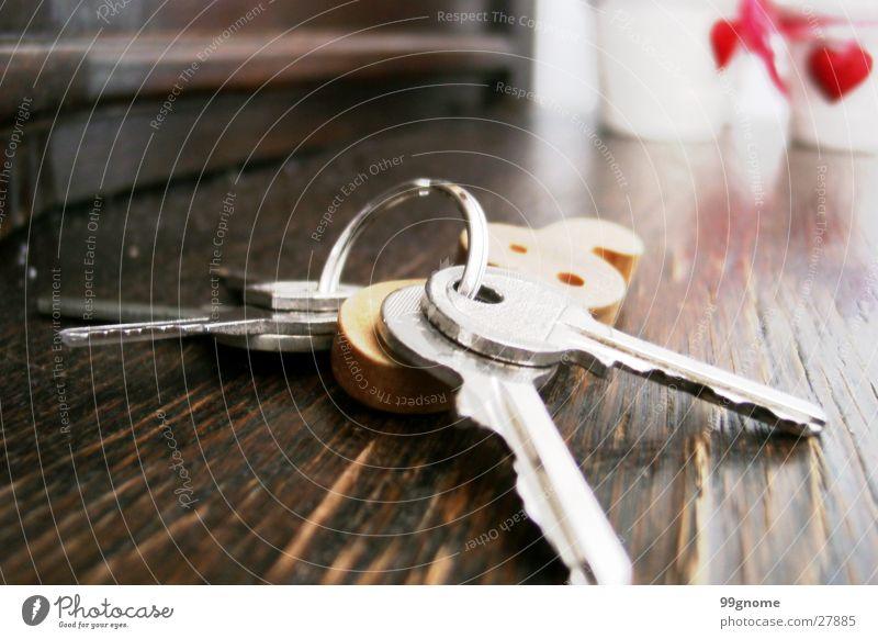 Home! Holz Herz Dinge Schlüssel Blumentopf Notenschlüssel