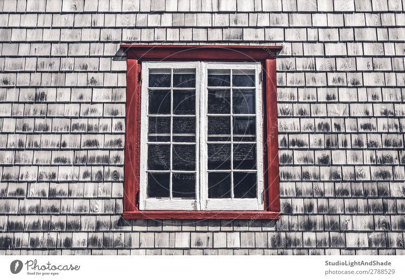 alt Farbe Landschaft rot Haus Architektur Holz Gebäude grau retro Fotografie historisch Symbole & Metaphern Tradition Dorf Hütte