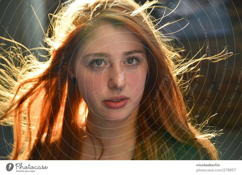 Montags Portrait 33 - Please don't stop Stil schön Leben feminin Junge Frau Jugendliche Haare & Frisuren Gesicht 1 Mensch 18-30 Jahre Erwachsene Piercing
