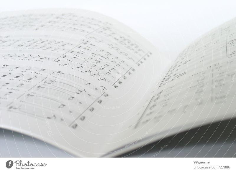 Partitur weiß Musik grau Konzert Musiknoten Lied Text