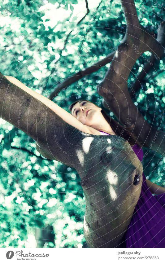 dream about (II) Mensch feminin Junge Frau Jugendliche Erwachsene Leben 1 18-30 Jahre Umwelt Natur Landschaft Pflanze Sommer Schönes Wetter Baum Park Wald