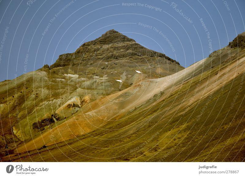 Island Himmel Natur Landschaft Umwelt Berge u. Gebirge Felsen Erde Urelemente Spitze