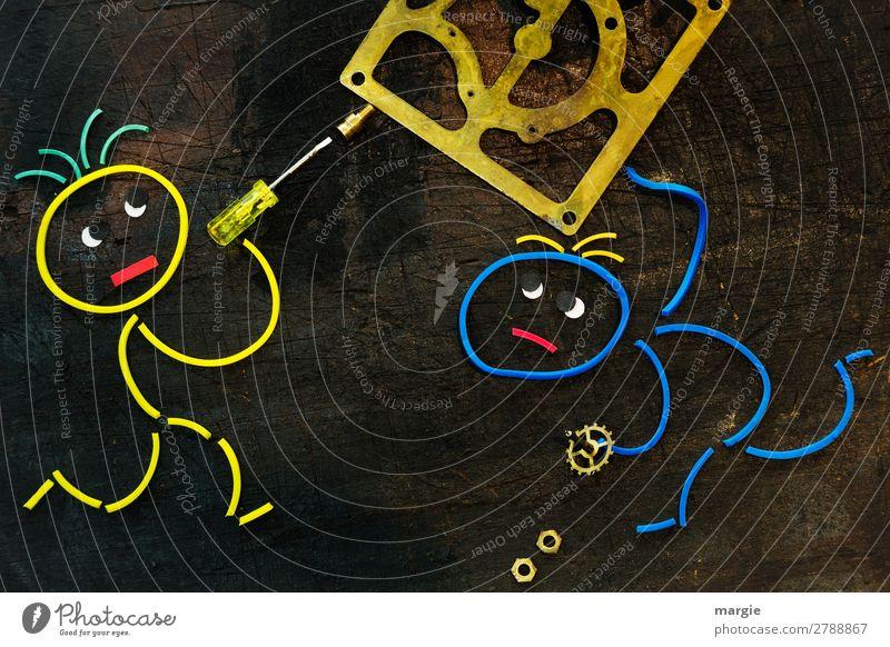 Gummiwürmer: ...jetzt halt schon fest. Zwei Monteure arbeiten an einem Uhrwerk Basteln Modellbau heimwerken Renovieren Arbeit & Erwerbstätigkeit Beruf