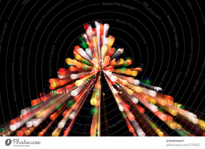 explosion Party Show Discokugel Kugel Linie Bewegung mehrfarbig Außenaufnahme Experiment Menschenleer Nacht Kunstlicht Silhouette Reflexion & Spiegelung