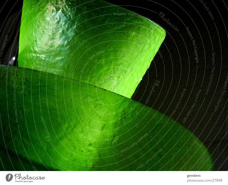 fresh grün Lampe Glas Regenschirm Blase blasen antik schimmern Lampenschirm