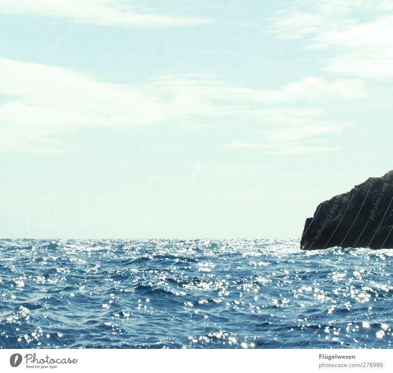 Felsen und Meer Wasser Ferien & Urlaub & Reisen Sommer Strand Erholung Ferne Küste Freiheit Stein Schwimmen & Baden Wellen Freizeit & Hobby Insel Tourismus