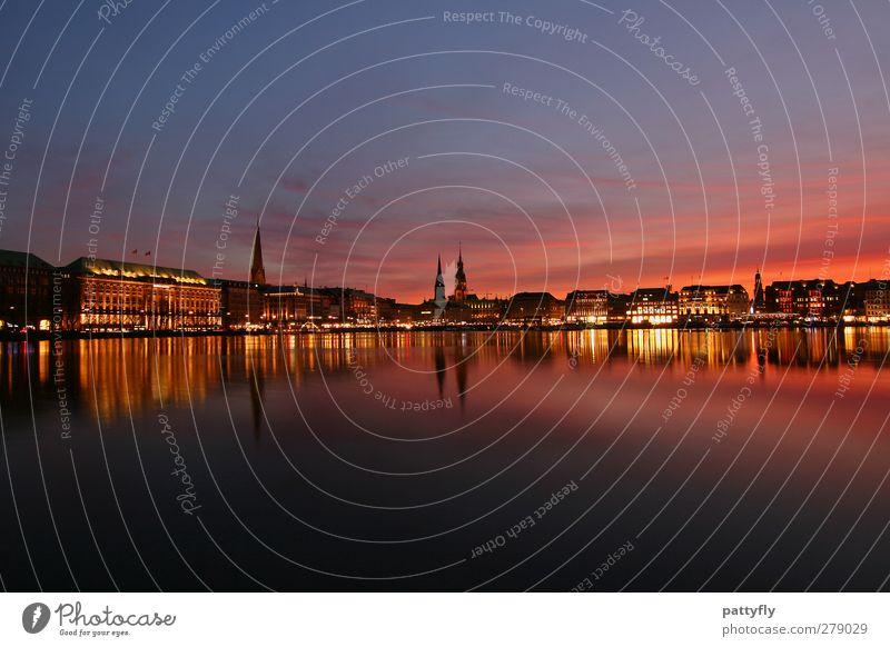 Hamburg meine Perle Deutschland Tourismus Europa Schönes Wetter Romantik Fluss Skyline Wahrzeichen Altstadt Hafenstadt Alster Städtereise