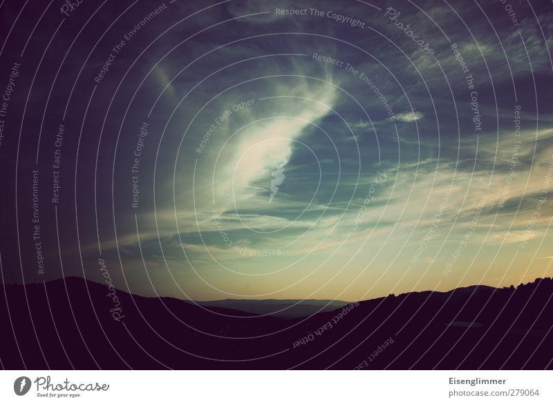 Sommer in Bayern Landschaft Himmel Wolken Horizont Berge u. Gebirge Bayerischer Wald Unendlichkeit oben positiv ruhig Fensterblick Urlaubsstimmung