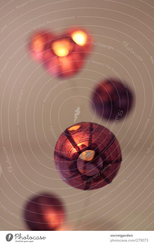 leuchtend rot. Raum Party Feste & Feiern Kugel kaputt Wärme Dekoration & Verzierung Lichterkette Papier Asien Papierschirmchen Partystimmung Partyraum Farbfoto