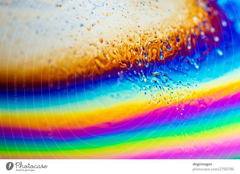 Abstrakter Hintergrund des Farbspektrums. Regenbogenfarben. Kunst hell verrückt blau Farbe Spektrum Konsistenz Erdöl Seife Schaumblase psychedelisch irisierend