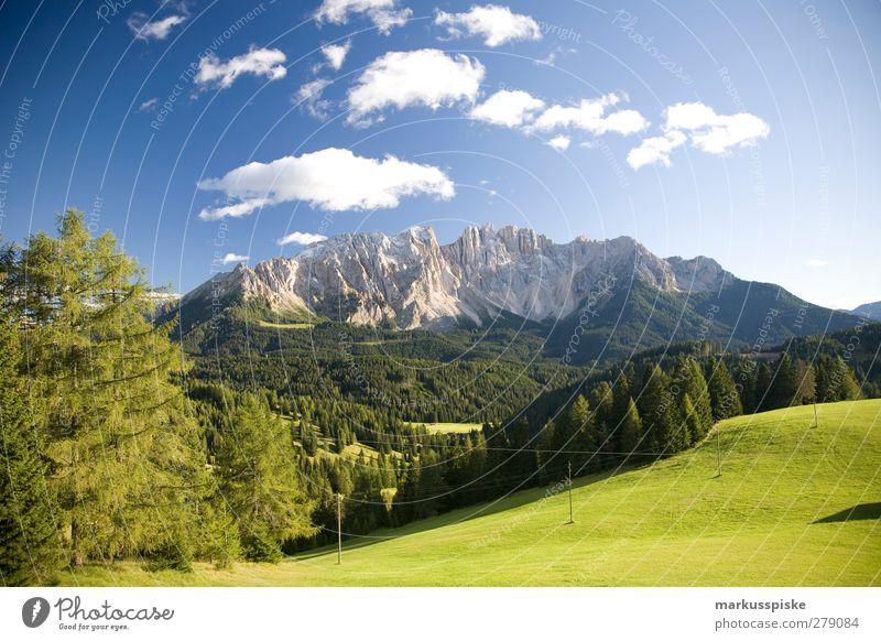 Latemar Südtirol Natur Ferien & Urlaub & Reisen Sommer Sonne Wald Landschaft Ferne Berge u. Gebirge Herbst Frühling Freiheit Felsen Feld wandern Tourismus