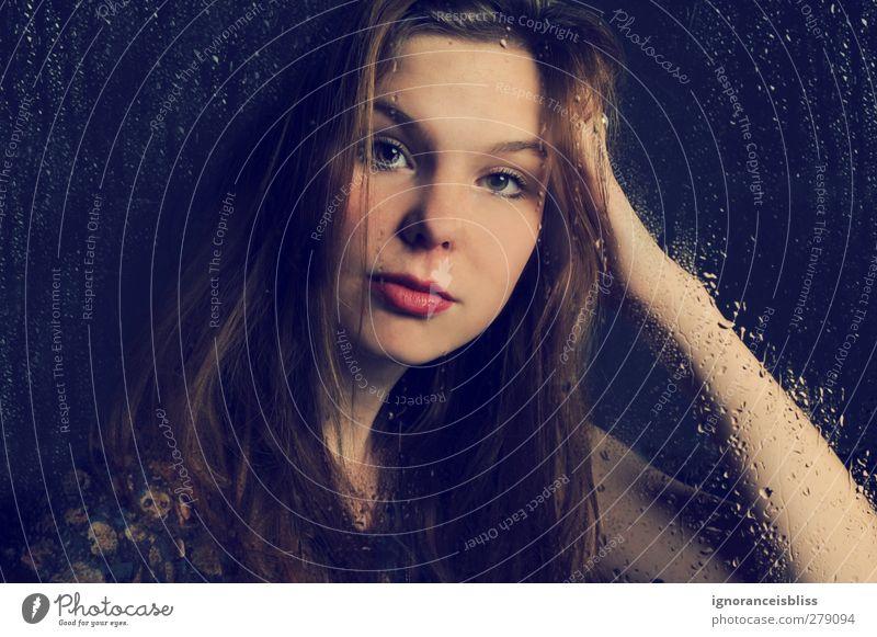 solitude. feminin Junge Frau Jugendliche Erwachsene 1 Mensch 13-18 Jahre Kind 18-30 Jahre träumen Traurigkeit Reinheit Erschöpfung Einsamkeit Farbfoto