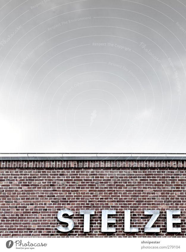 Du alte Kack … Stadt Haus kalt Wand Architektur grau Mauer Gebäude Business Fassade Design Schriftzeichen Dach Kultur Fabrik Bauwerk