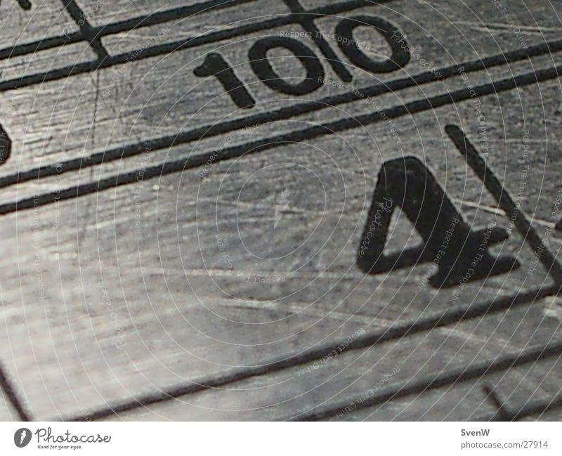 Metall Lineal Linie glänzend 4 10 100