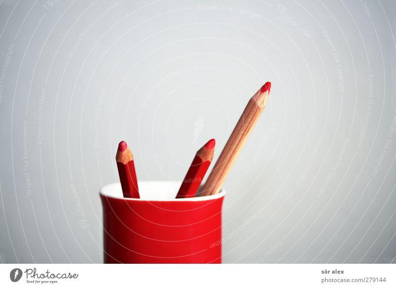 Rotstifte rot Business Kreativität rund Team Werbung Sitzung zeichnen Tasse Wirtschaft Unternehmen Schreibstift Konkurrenz Verbote gestalten Börse