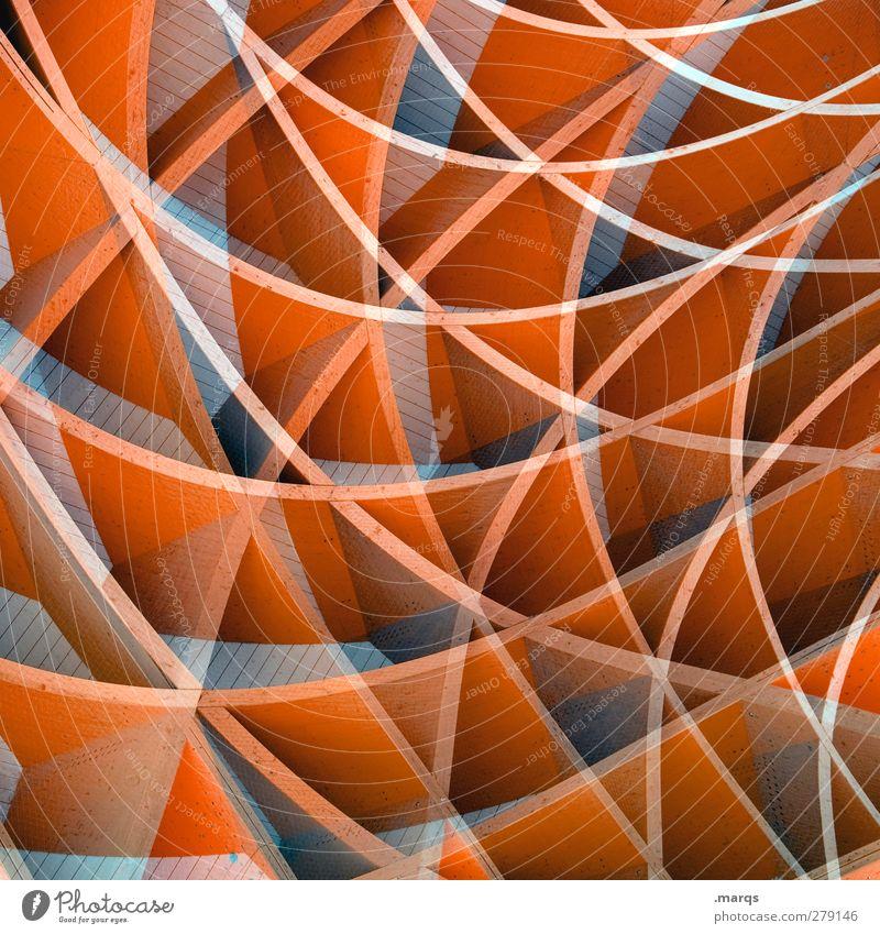 Orange Lifestyle elegant Stil Design Kunst Holz Kunststoff Linie außergewöhnlich Coolness trendy einzigartig schön verrückt orange chaotisch Surrealismus