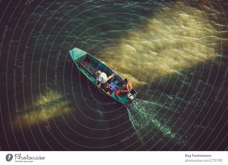 ° Lifestyle Freizeit & Hobby Ferien & Urlaub & Reisen Tourismus Ausflug Ferne Freiheit Sommer Sommerurlaub Fluss Bootsfahrt Mensch Frau Erwachsene Mann Leben 2