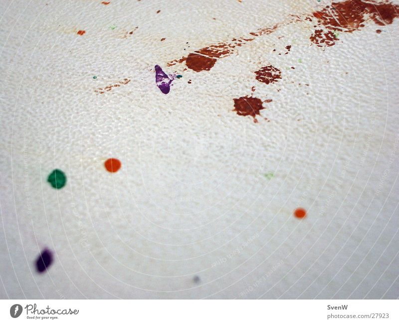 Farbkleckse grün rot Farbe Tisch violett Fleck Fototechnik
