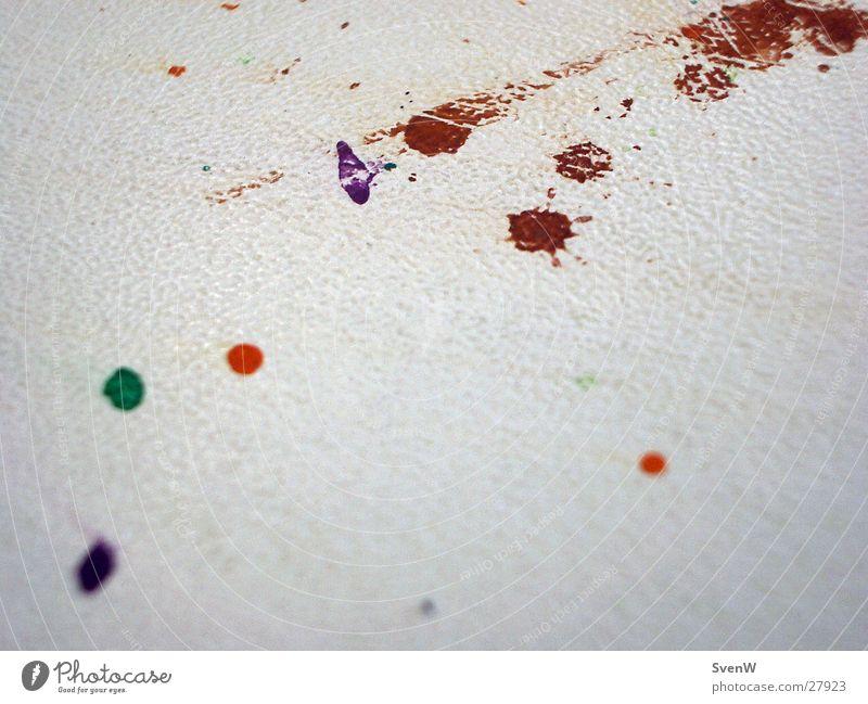 Farbkleckse Tisch Fleck rot grün violett Fototechnik Farbe