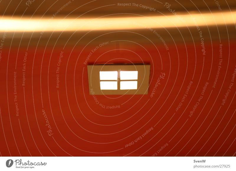 Light rot gelb Lampe Fenster Metall Häusliches Leben Quadrat Rechteck