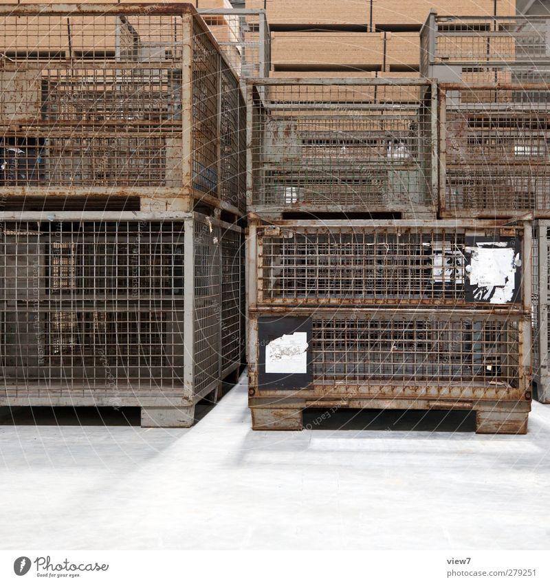 logistiker alt Einsamkeit oben Metall braun dreckig Ordnung Verkehr authentisch modern Industrie einfach Güterverkehr & Logistik Fabrik ausdruckslos trashig