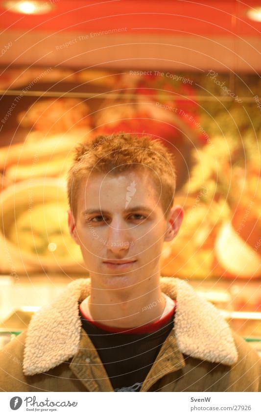 It's Me rot gelb maskulin Jacke Metzger Mann orange Mensch