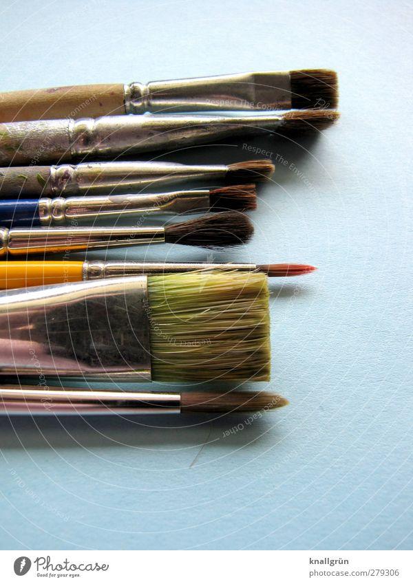 Künstlerseele Freizeit & Hobby malen Pinsel liegen blau silber Gefühle Freude Farbe Idee Inspiration Kreativität Kunst gebraucht Dachshaarpinsel Borsten 8