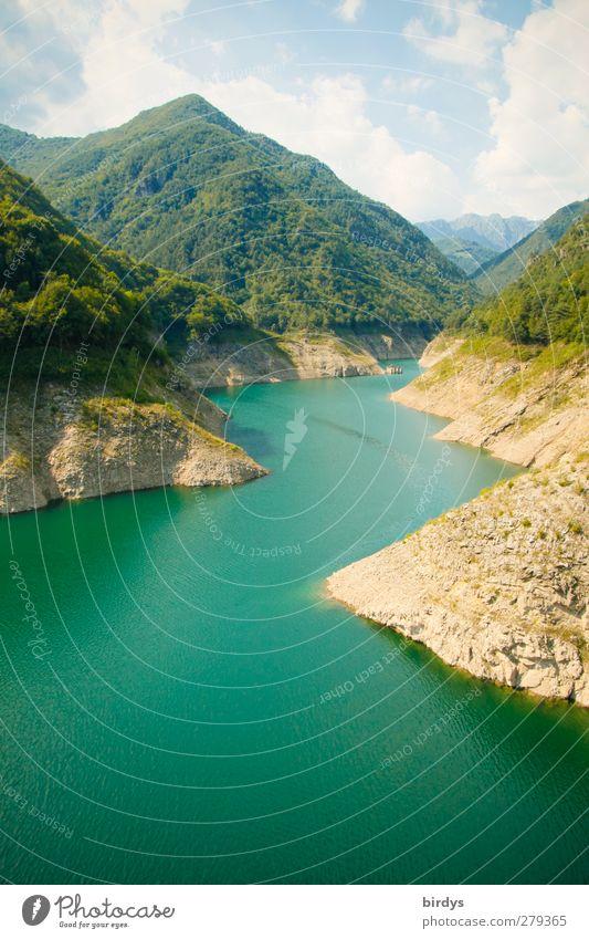Lago di Valvestino Natur Landschaft Wasser Sommer Schönes Wetter Berge u. Gebirge Garda Schlucht See Fluss authentisch gigantisch schön türkis Idylle rein
