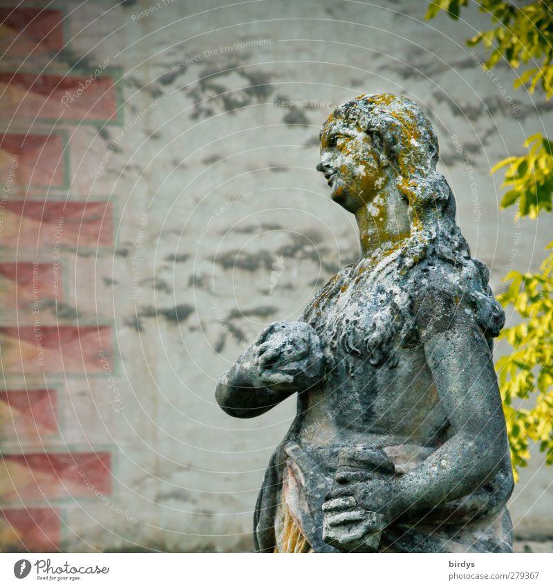 Geschöpf aus Stein schön Blatt feminin Religion & Glaube Kunst Fassade ästhetisch Kultur Glaube historisch Skulptur Sehenswürdigkeit Bekanntheit Pastellton Slowenien Marienkirche