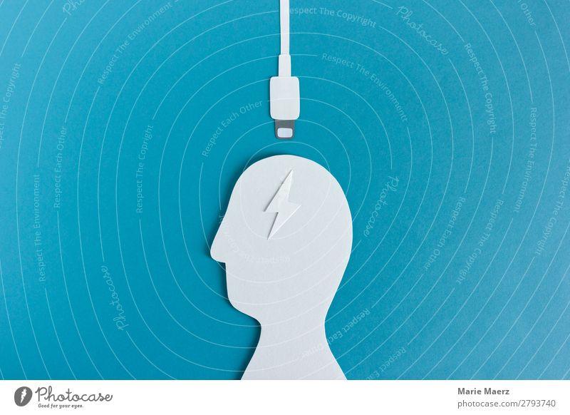 Aufladen // Wissen tanken Lifestyle Bildung lernen Arbeit & Erwerbstätigkeit Karriere Erfolg Unterhaltungselektronik Telekommunikation Mensch Erwachsene Kopf 1