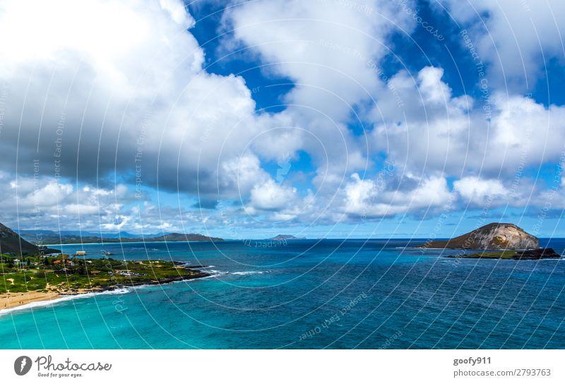 Paradies Himmel Ferien & Urlaub & Reisen Natur Wasser Landschaft Meer Wolken Ferne Strand Küste Tourismus Freiheit Ausflug träumen Wellen Insel