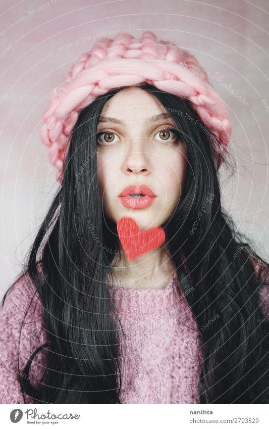 Frau Mensch Jugendliche Junge Frau schön schwarz 18-30 Jahre Gesicht Erwachsene Liebe natürlich feminin Gefühle Glück Stil Haare & Frisuren