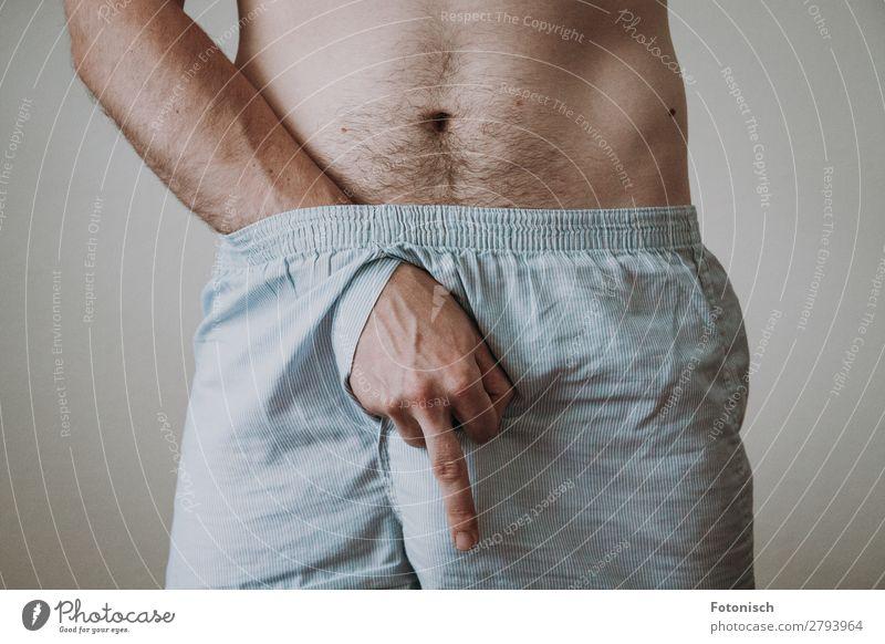 F*ck Mensch maskulin Mann Erwachsene Hand Mittelfinger 1 18-30 Jahre Jugendliche Unterwäsche Sex Feindseligkeit Sexualität Farbfoto Innenaufnahme Nahaufnahme