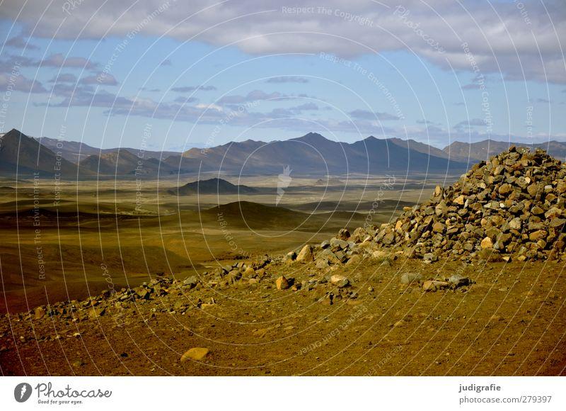Island Umwelt Natur Landschaft Urelemente Erde Himmel Wolken Hügel Berge u. Gebirge Hochebene fantastisch natürlich trocken wild Ferien & Urlaub & Reisen Ferne