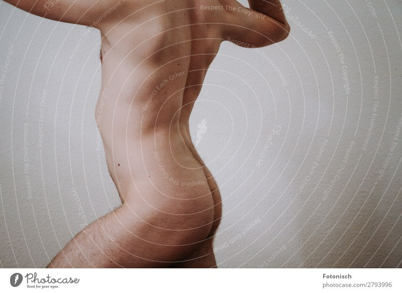 A Donis 2 Körper sportlich Leben Mensch maskulin Junger Mann Jugendliche Rücken Gesäß 1 18-30 Jahre Erwachsene Diät stehen Erotik muskulös nackt dünn Kraft