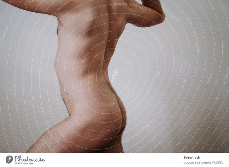 A Donis 2 Mensch Jugendliche nackt schön Junger Mann Erotik 18-30 Jahre Erwachsene Leben Sport maskulin Körper Sex Kraft Rücken stehen