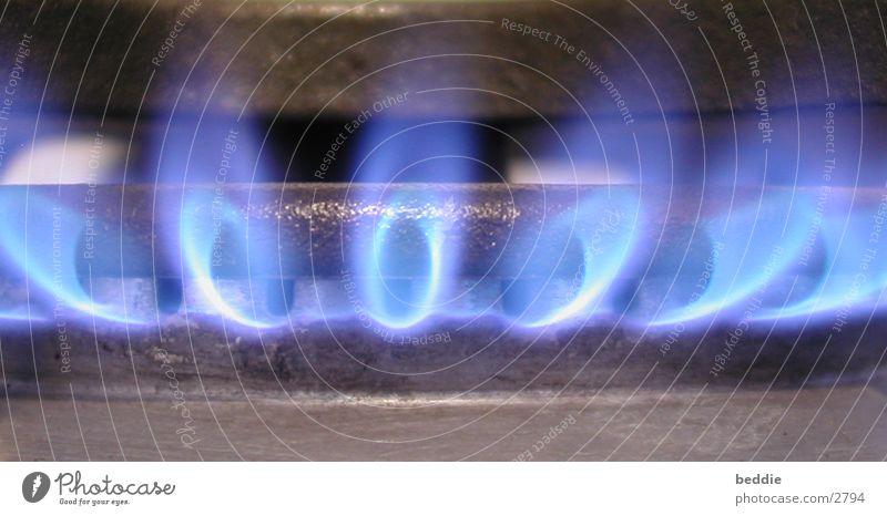 nochmal Gas kochen & garen Licht heiß Fototechnik Brand blau