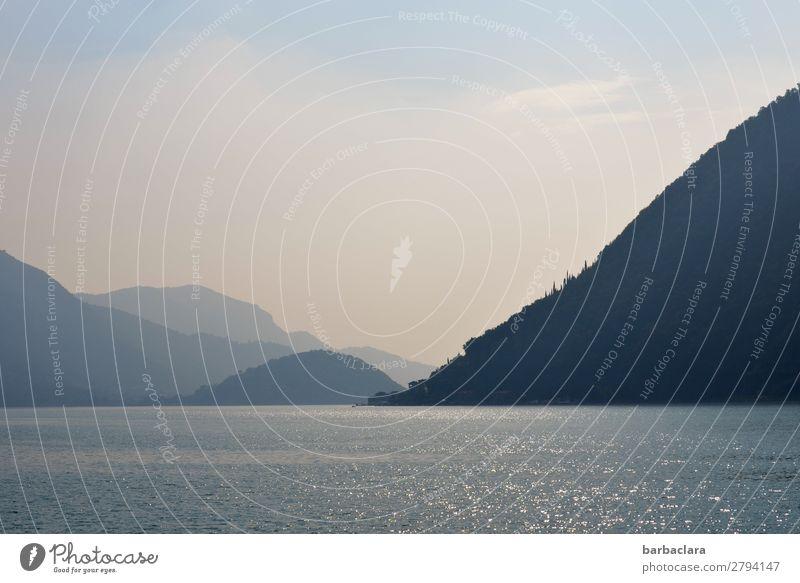 Fernweh | Wasser, Berge, blauer Himmel am Iseosee Ferien & Urlaub & Reisen Ferne Landschaft Urelemente Erde Alpen Berge u. Gebirge See Italien Dorf Fischerdorf