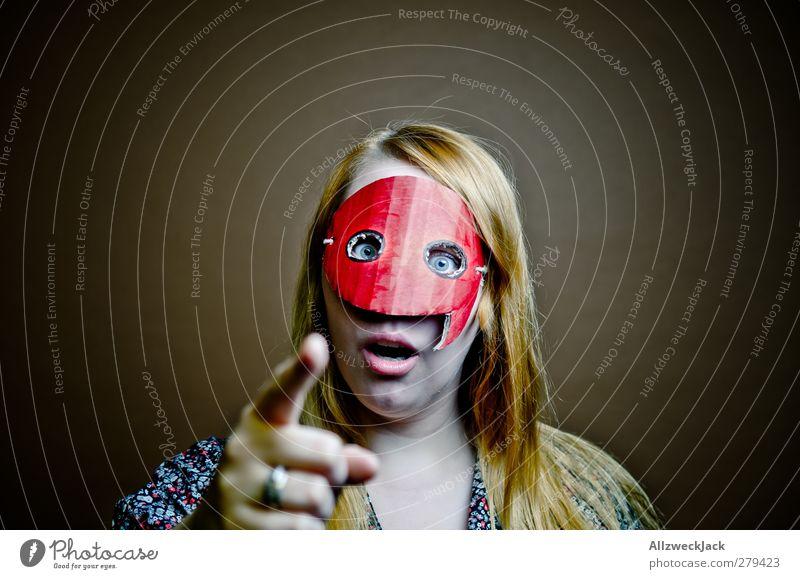 Quotegirl: Zitierregeln einhalten! Mensch Frau Jugendliche Junge Frau Freude 18-30 Jahre Erwachsene sprechen feminin Stil Design blond Kommunizieren lernen