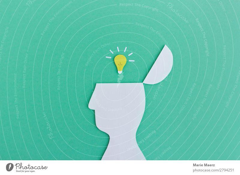 Super Idee Mensch schön grün Kopf Denken Kraft ästhetisch Erfolg Kreativität lernen entdecken planen neu Ziel Bildung