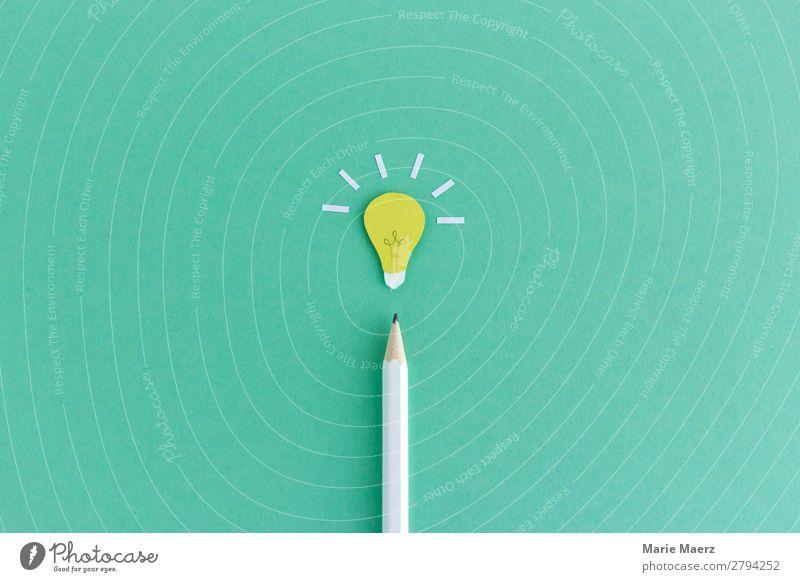 Idee! Bleistift mit strahlender Glühbirne Bildung Wissenschaften Studium Arbeit & Erwerbstätigkeit Wirtschaft Werbebranche Erfolg lernen ästhetisch einfach gut