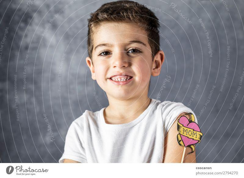Kind Mensch blau schön weiß Gesicht Lifestyle Erwachsene Liebe Gefühle Familie & Verwandtschaft Glück Feste & Feiern Junge Schule rosa
