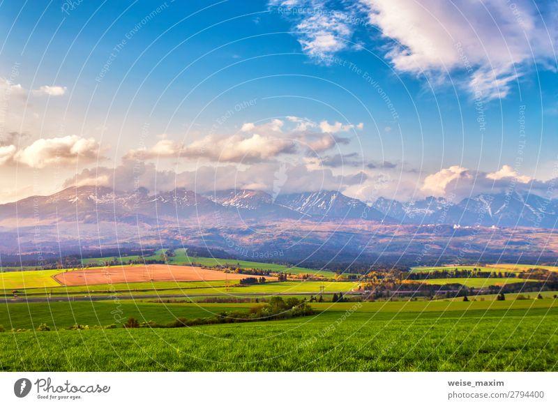 Himmel Ferien & Urlaub & Reisen Natur Sommer grün Landschaft Baum Blume Wolken ruhig Wald Ferne Berge u. Gebirge Herbst Frühling natürlich