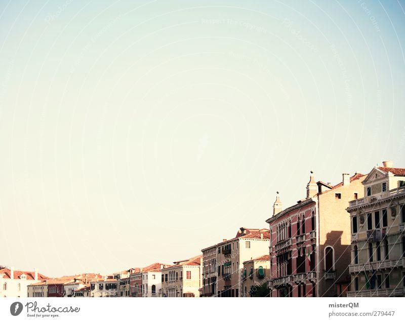 Straßenzug. Kunst ästhetisch Venedig Italien Häuserzeile verträumt Idylle friedlich Dach Himmel (Jenseits) Sommer Ferien & Urlaub & Reisen Urlaubsfoto