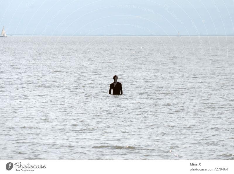 Mein sexy Mann und das Meer Mensch Wasser Einsamkeit See Schwimmen & Baden Wellen maskulin